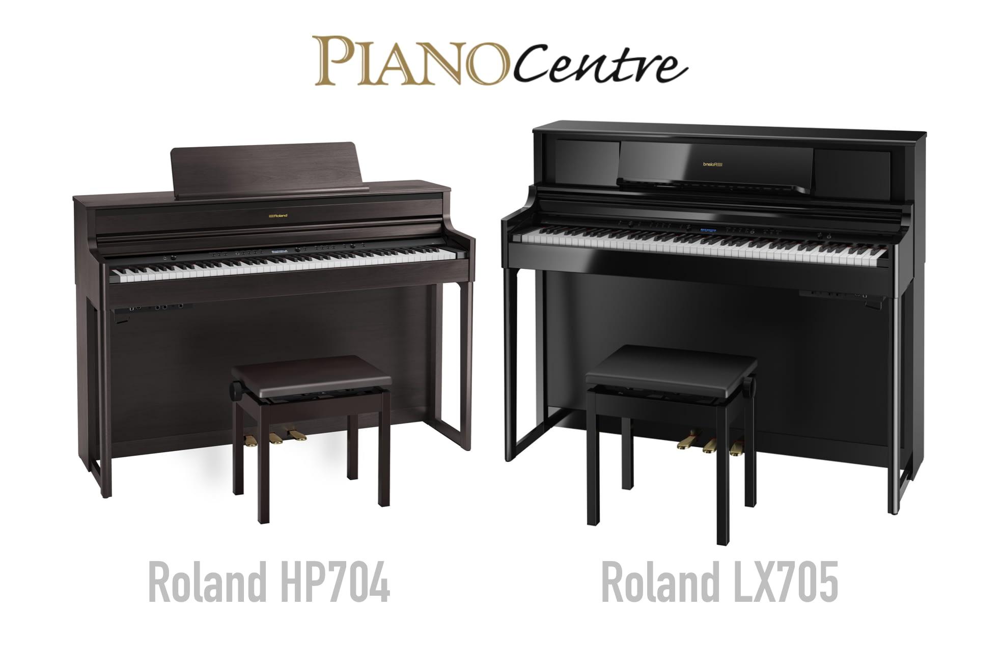 Roland hp704 & Roland LX705 Pianos